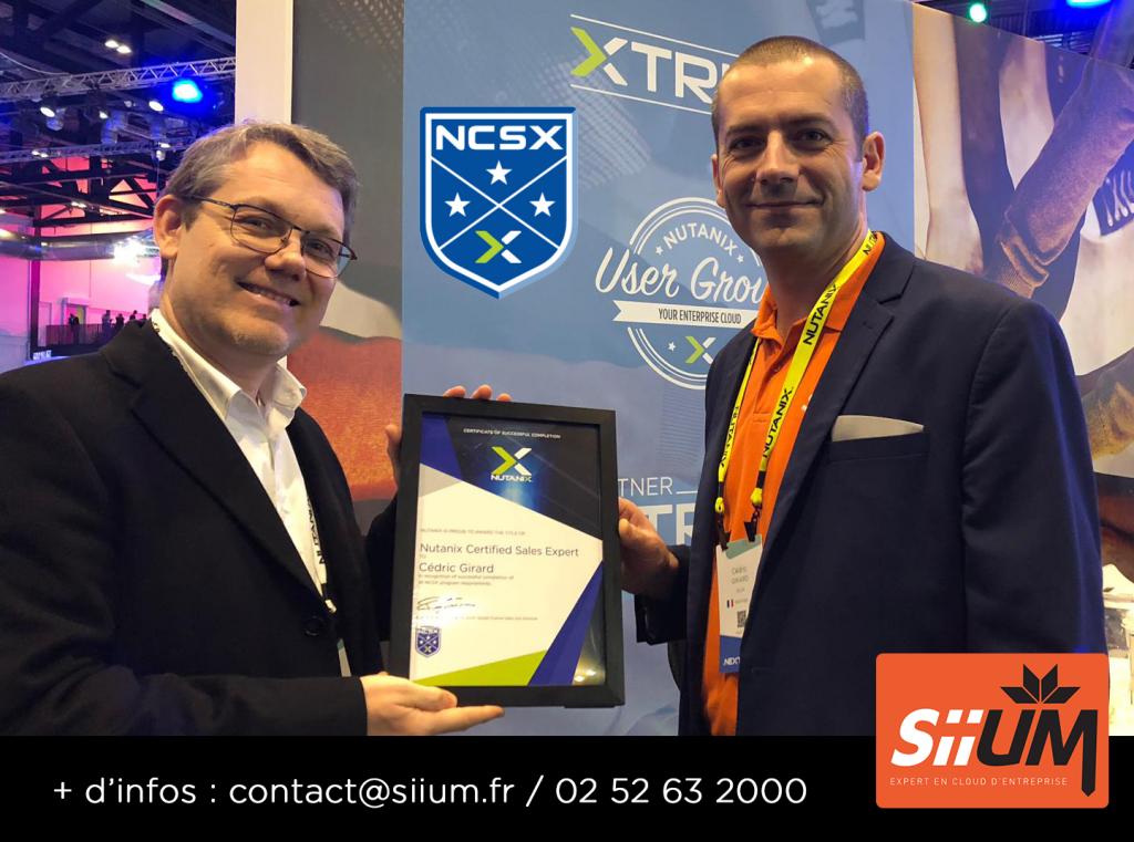 Cédric GIRARD décroche la certification NUTANIX NCSX
