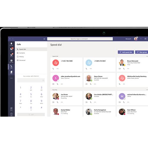 Passez vos appels depuis une interface unifiée avec Microsoft Teams