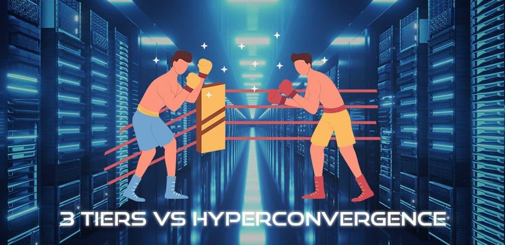 infra traditionnelle vs hyperconvergence